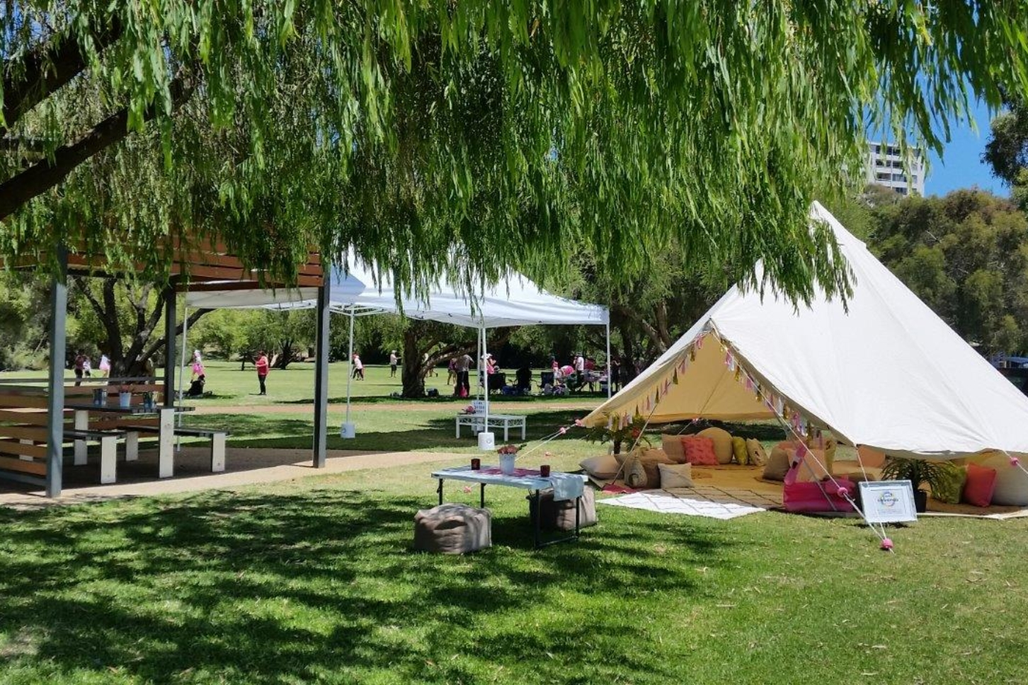 Main navigation & Cool Cabanas Glamping offers Luxury Camping in Beautiful Bell Tents