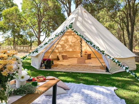 one of our party picnic tents, fully setup and ready for a picnic